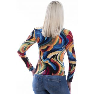 Rucy Fashion hosszú ujjú színes csavart felső