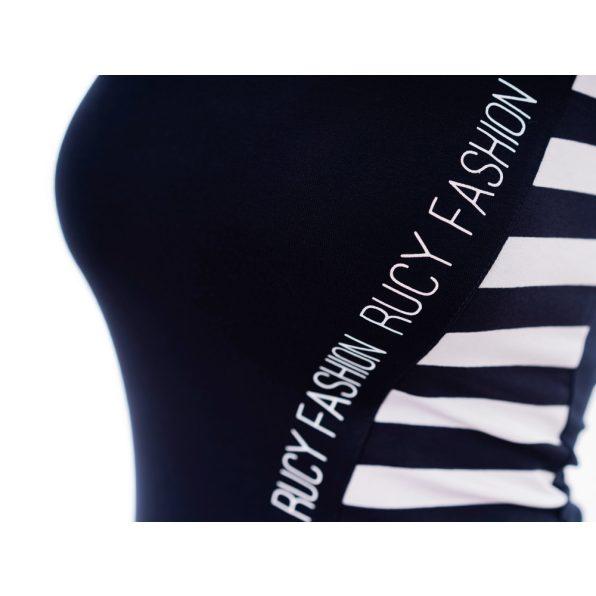 ferdén mintás trikó ruha, rucy fashion trikó ruha, sötétkék-fehér színű nyári ruha, nyaralásra ruha