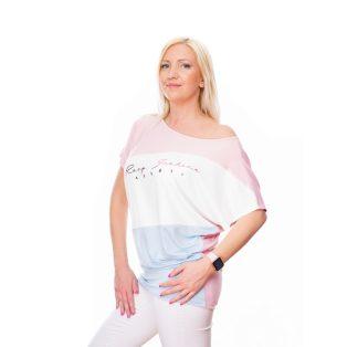 pasztell színű tunika,tavaszi kismama felső,babakék és babarózsaszín felső,ferdén vágott felső,