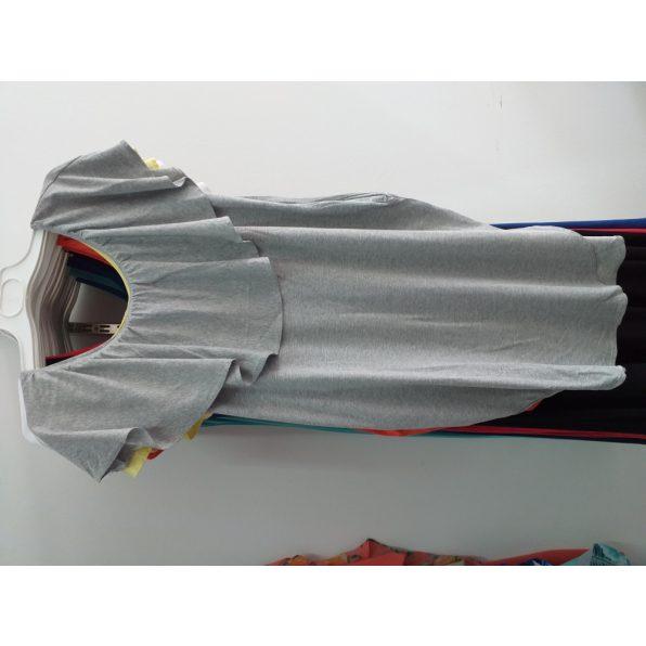 Melír szürke fodros zsebes ruha