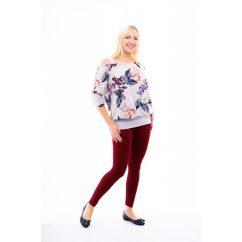 Rucy Fashion bordó hosszú szárú pamut leggings