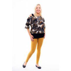 Rucy Fashion mustár hosszú szárú pamut leggings