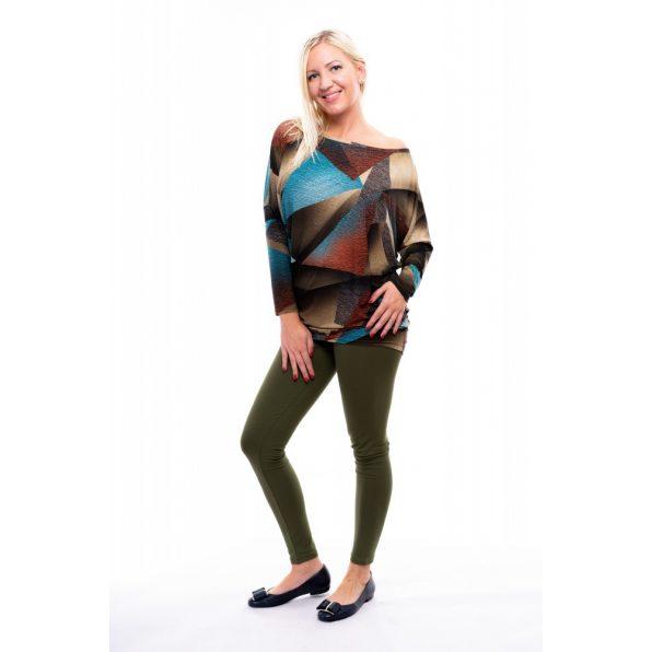 Rucy Fashionkeki színű hosszú szárú pamut leggings