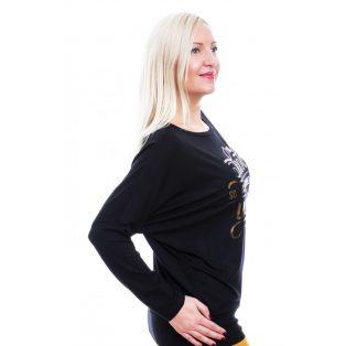 Rucy Fashion fekete passzés, hosszú ujjú felső
