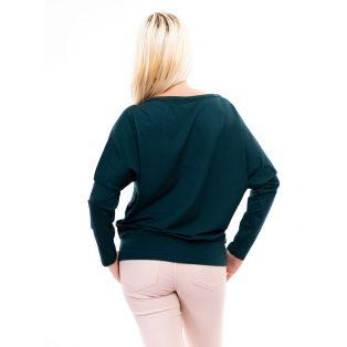 Rucy Fashion Hosszú ujjú zöld színű passzés felső logóval