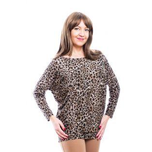 Rucy Fashion állatmintás lezser, hosszú ujjú, denevér fazonú felső