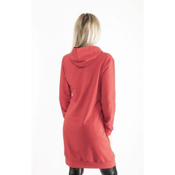 Hosszú ujjú melirszürke kapucnis sportos ruha