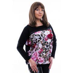 Rucy Fashion párduc minta alapon virág mintás lezser felső