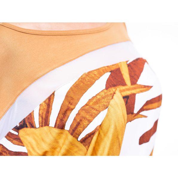 virágmintás őszi tunika, levélmintás őszi felső, trópusi mintás őszi tunika, rucy fashion