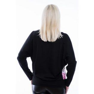 Rucy Fashion párduc minta alapon virág mintás denevér fazonú passzés felső