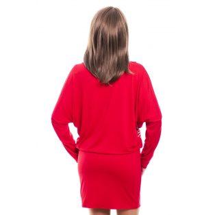 Rucy Fashion piros alapon absztrakt mintás tunika/ruha