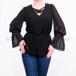 fekete, alkalmi ruha, kötős, pamuta, muszlin, buggyos ujjú
