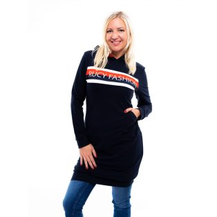 kapucnis ruha, rucy fashion, sportos belebújós ruha, kenguru zsebes ruha, melegítő szoknya,