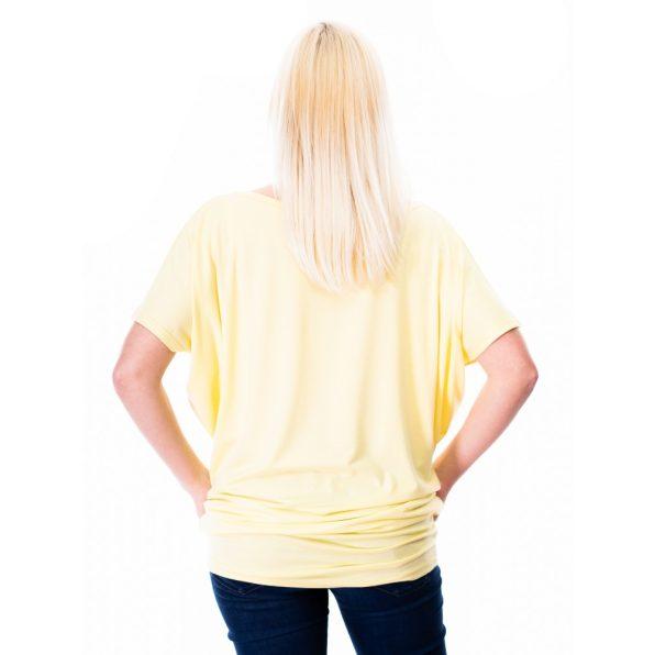sárga tunika, feliratos tunika, tavaszi felső