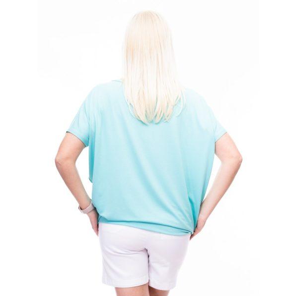 menta színű tunika, fényes feliratos menta felső, menta színű csinos kismama tunika,