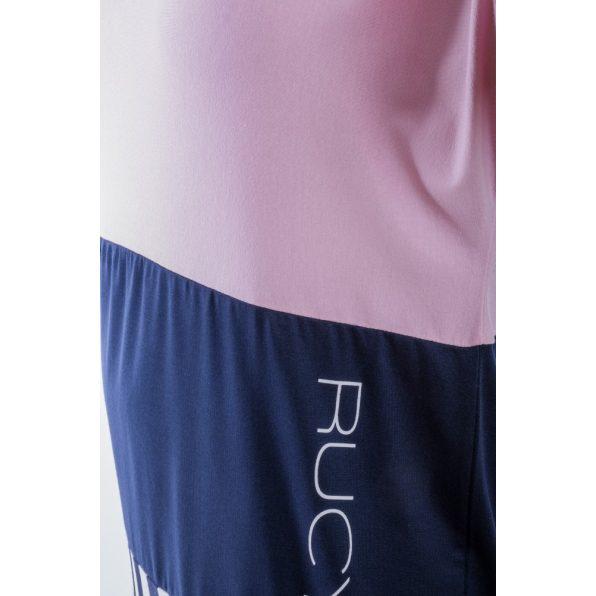 Rózsaszín-sötétkék-csíkos lezser tunika