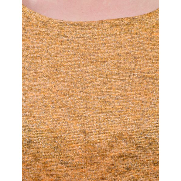 Mustár színű vékony kötött lezser felső ezüst szállal