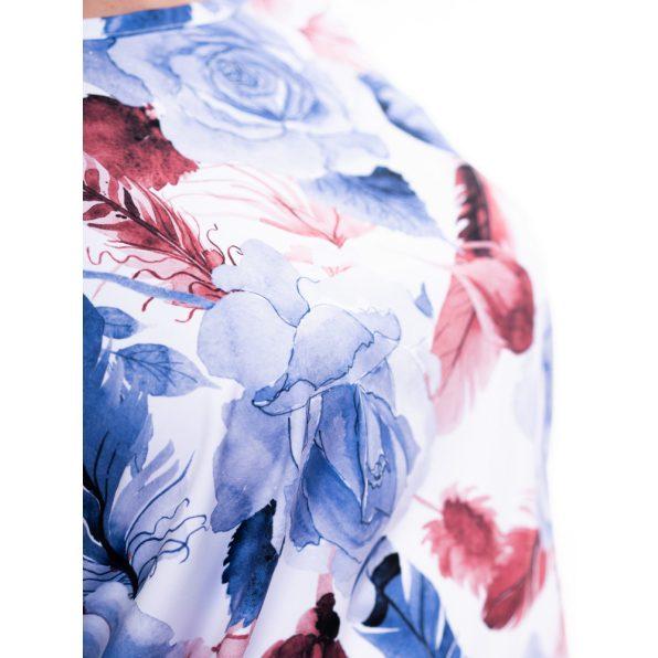 virágmintás tunika, rózsamintás tunika, nagyméretű divatos őszi ruhák, molett denevér felsők
