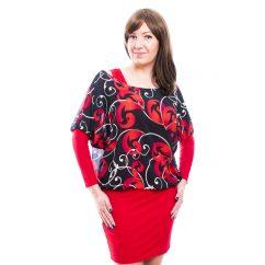 Rucy Fashion piros cirádás muszlin tunika