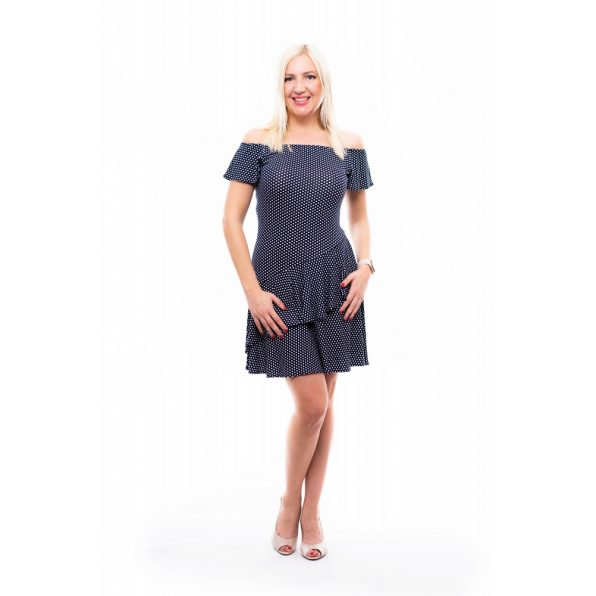 regina ruha, rucy fashion alkalmi ruha, ballagásra ruha, nyári alklmai ruha, kényelmes pöttyös ruha
