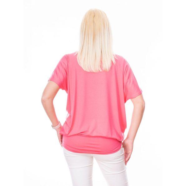 rózsaszín tunika, egyszínű tunika, egyszínű tavaszi felső, tavaszi outfit, basic tunika,