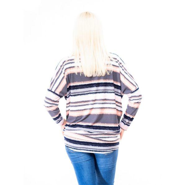 őszi tunika, pamut tunika őszre, csinos átmeneti női felsők, csíkos őszi tunika, rucy fashion