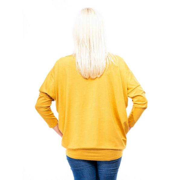 mustár színű őszi felső, mustár szinűű virágmintás őszi ruha, trópusi mintás őszi felső, rucyfashion