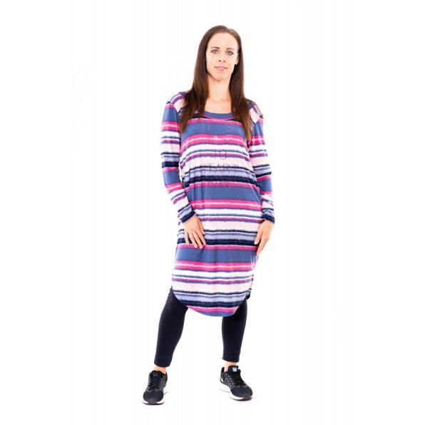 zsebes ruha, zsebes tunika, ingruha, rucy fashion ing ruha, őszi csíkos tunika, rucy fashion ősz