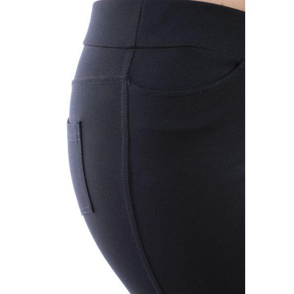Fekete szűkített fazonú nadrág
