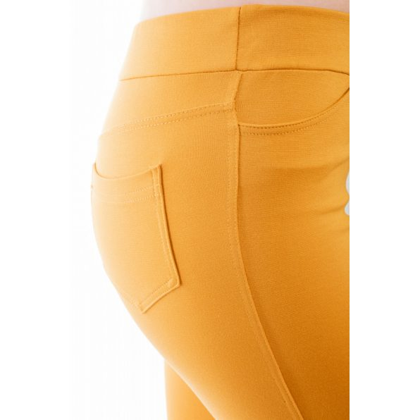 Rucy Fashion mustár szűkített fazonú, hosszú szárú női nadrág/treggings