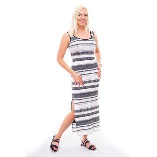 csipke mintás maxi ruha, fekete-fehér csíkos nyári ruha, rucy fashion maxi ruha