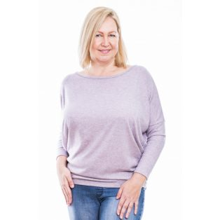 Rucy Fashion púder színű puha, vékony kötött lezser felső, hosszú ujjú denevér tunika