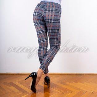 Kockás leggings