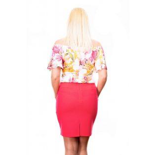 pink színű szoknya,ceruza szoknya,kosztűm szoknya,szűkszoknya,tavaszi alkalmi szoknya