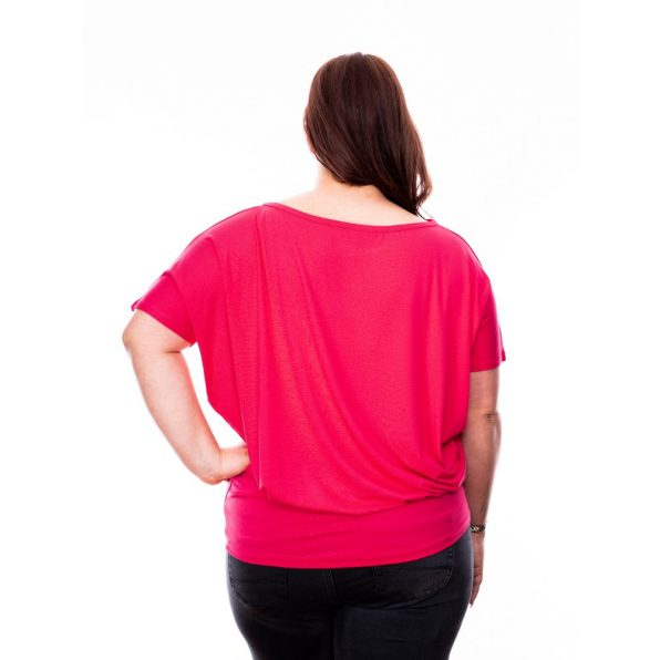 pink plus size ruha, pink plus size tunika, rucy fashion extra, plus size party ruha,